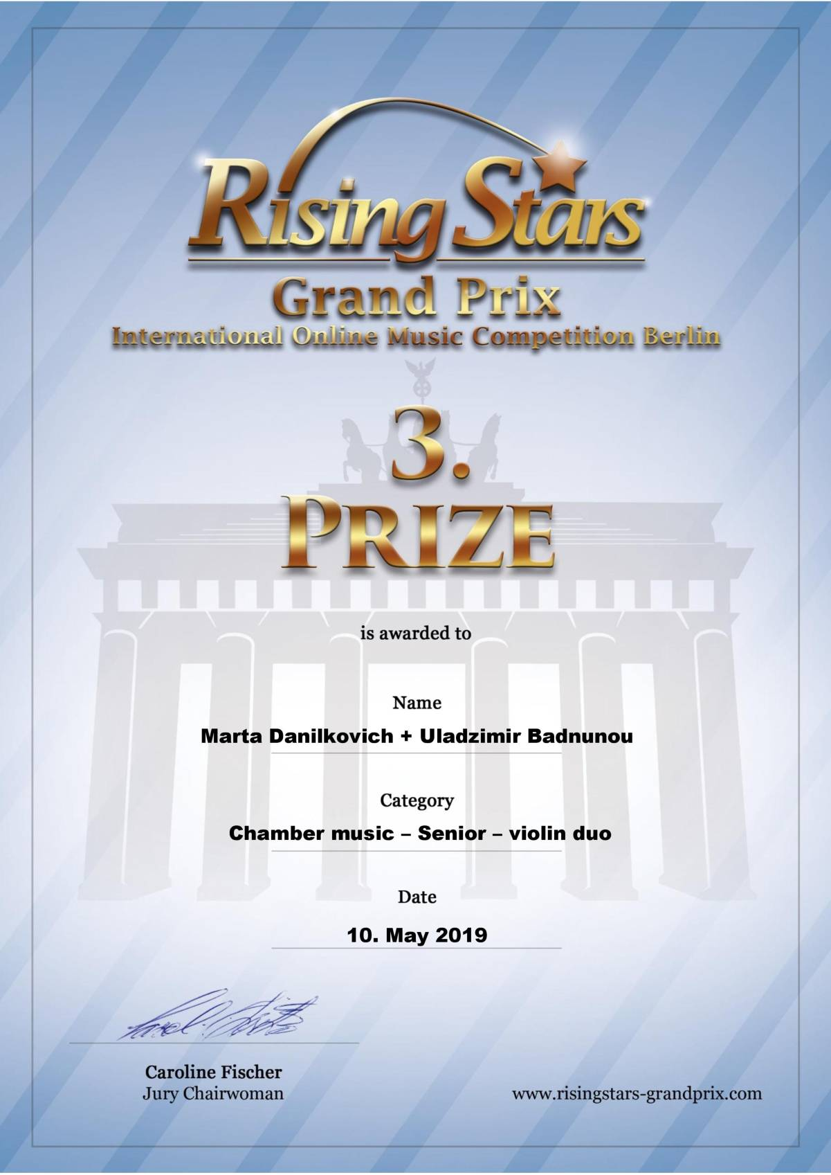 Rising Stars International Music Competition Berlin 2019